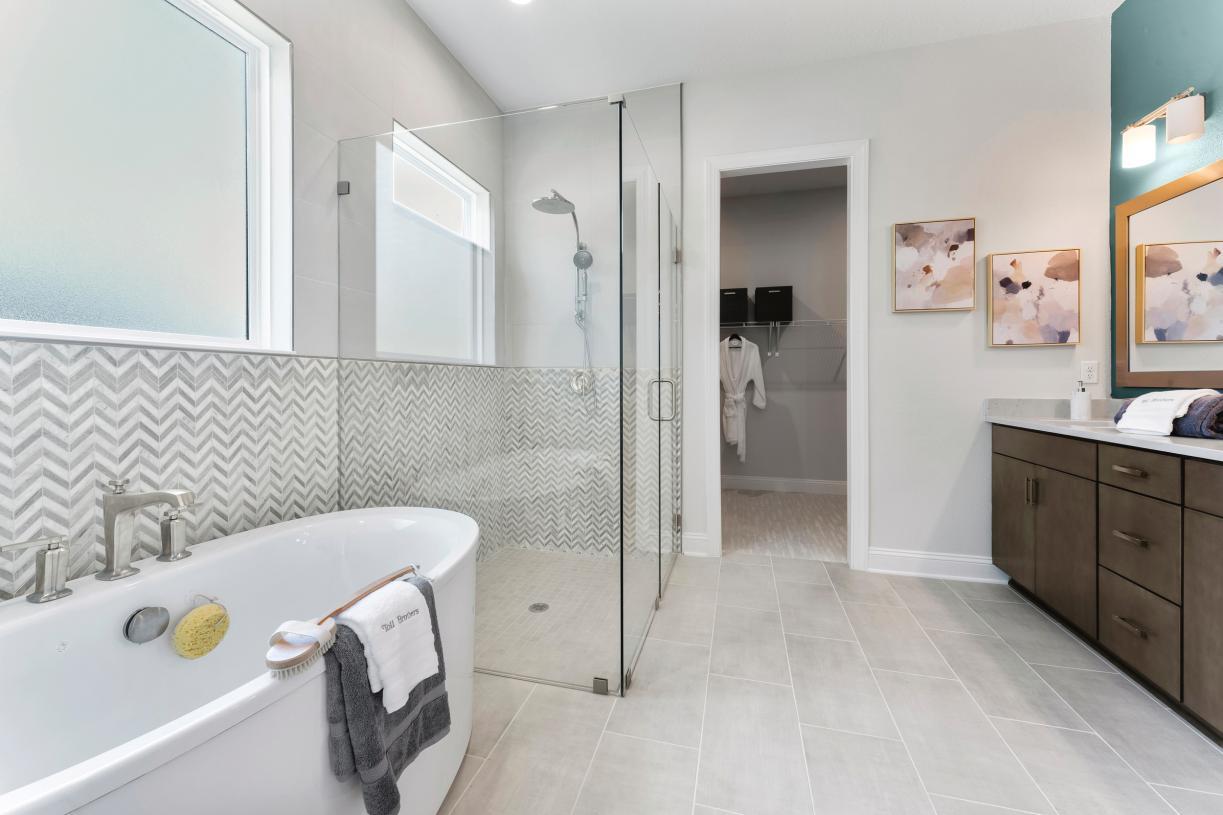 Spa-like primary bathrooms