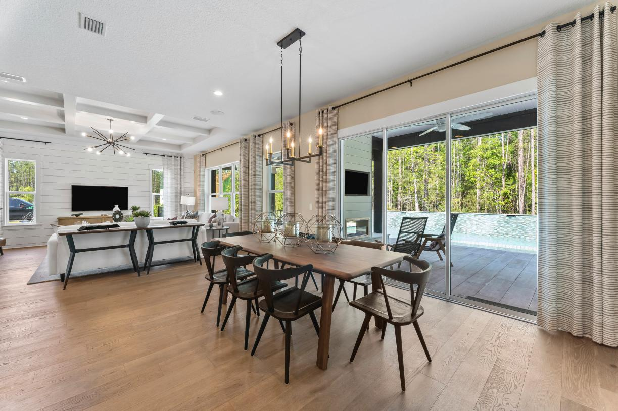 Spacious casual dining rooms
