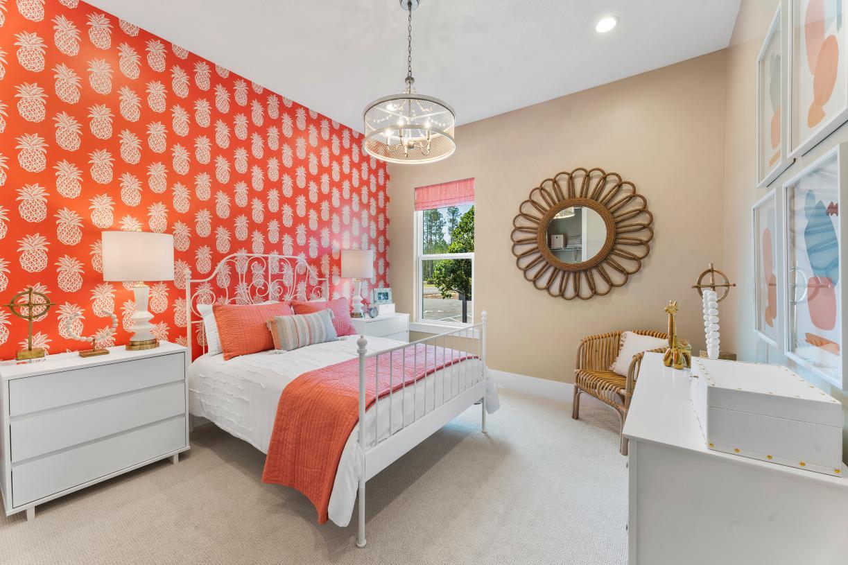 Secondary bedrooms offer plenty of natural light