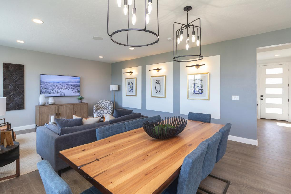 Entertain with ease in this expansive great room with adjacent dining area