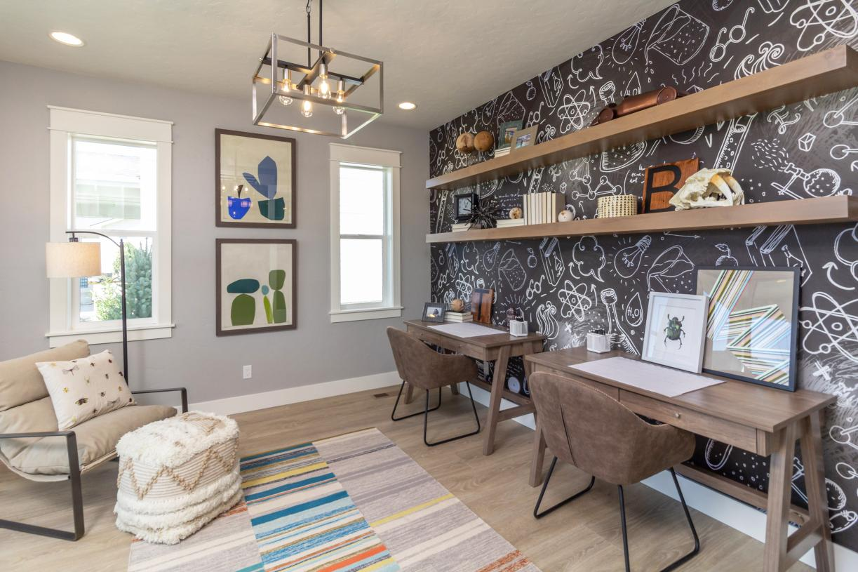 This functional flex space is perfect for tackling homework