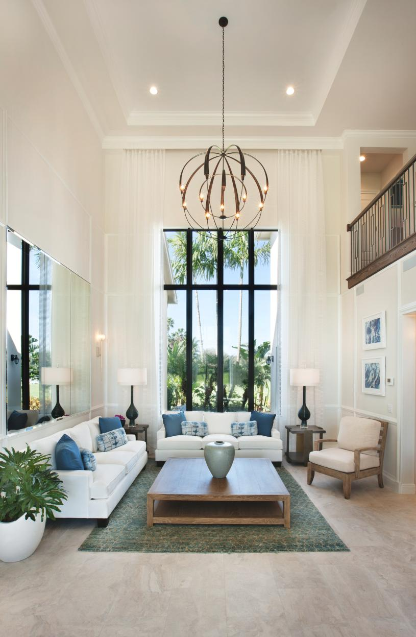 Luxurious, sunlit living areas