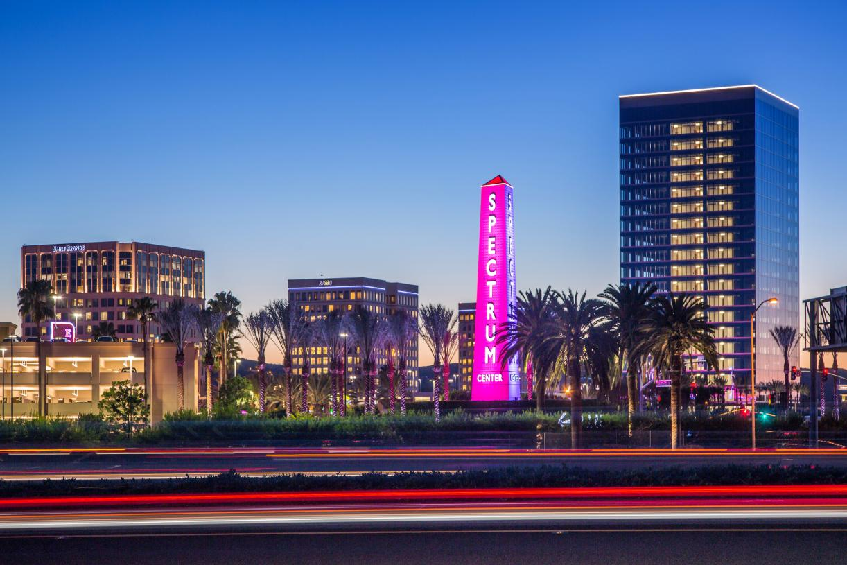 Shopping and dining opportunities nearby at Irvine Spectrum Center