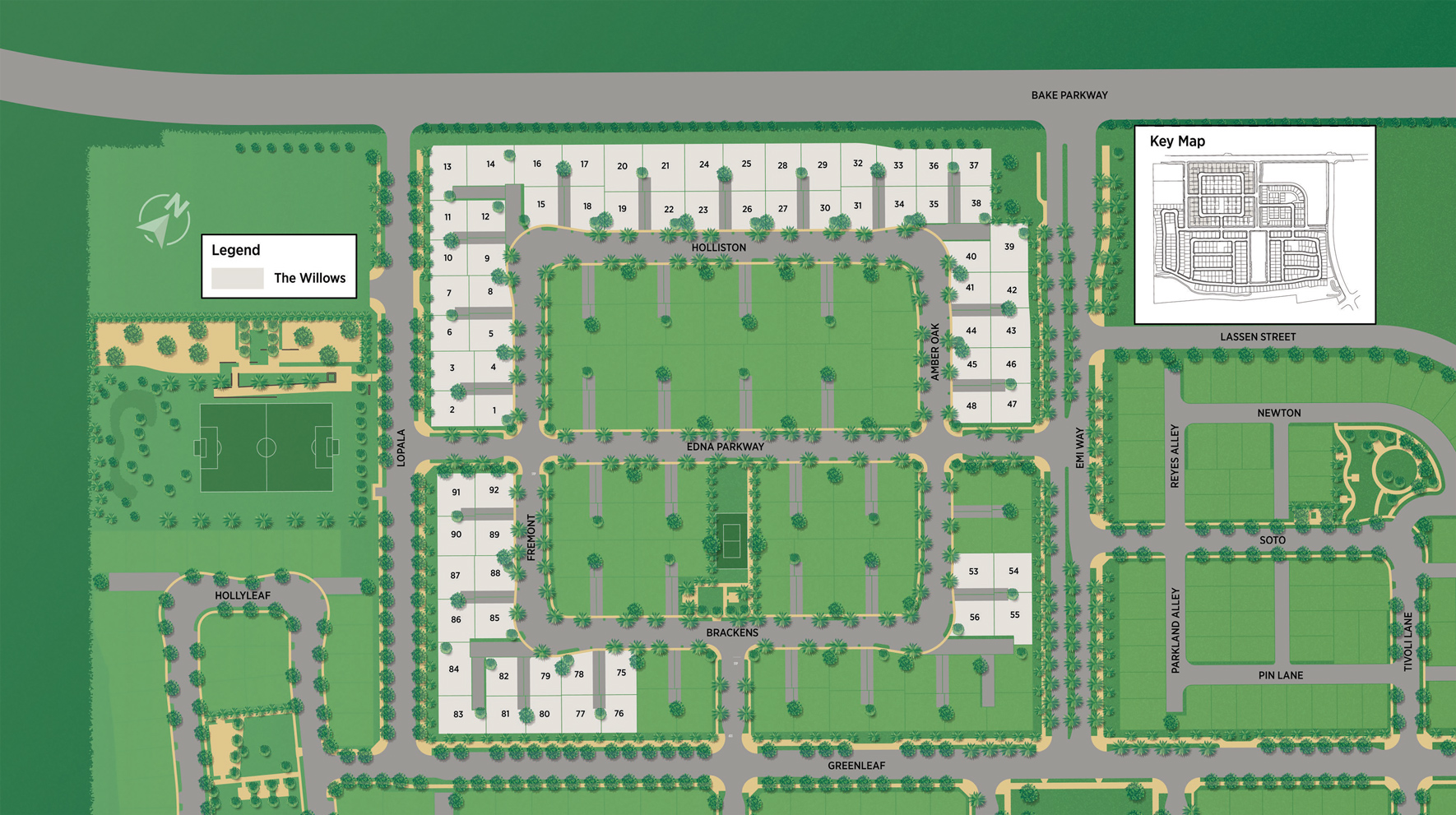 The Willows at The Meadows Site Plan