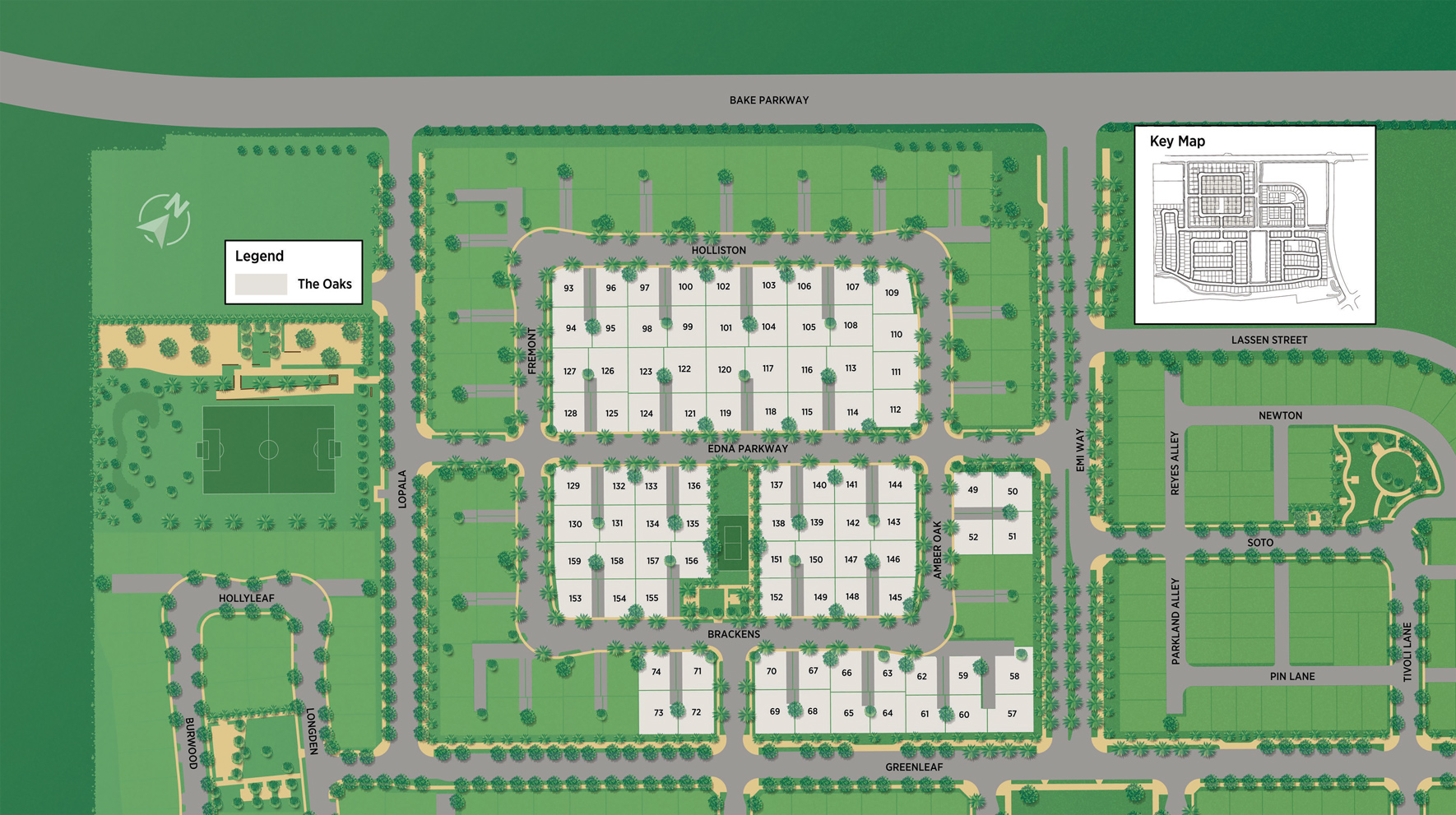 The Oaks at The Meadows Site Plan