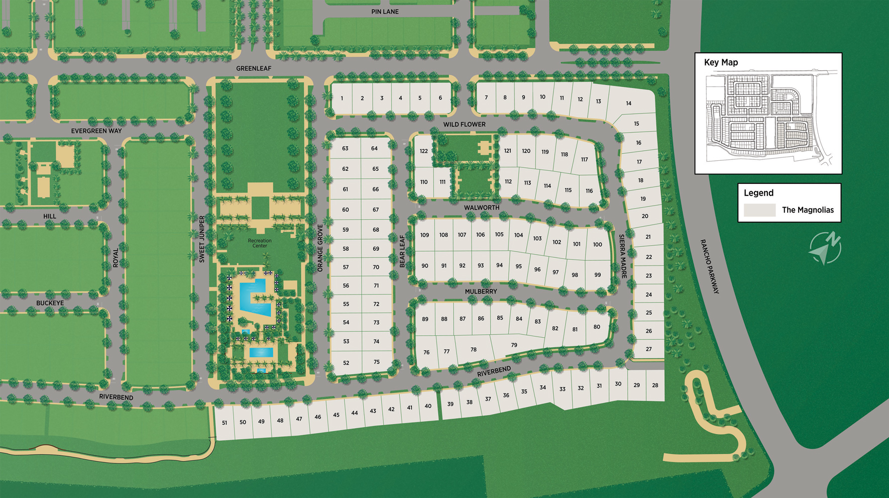 The Magnolias at The Meadows Site Plan