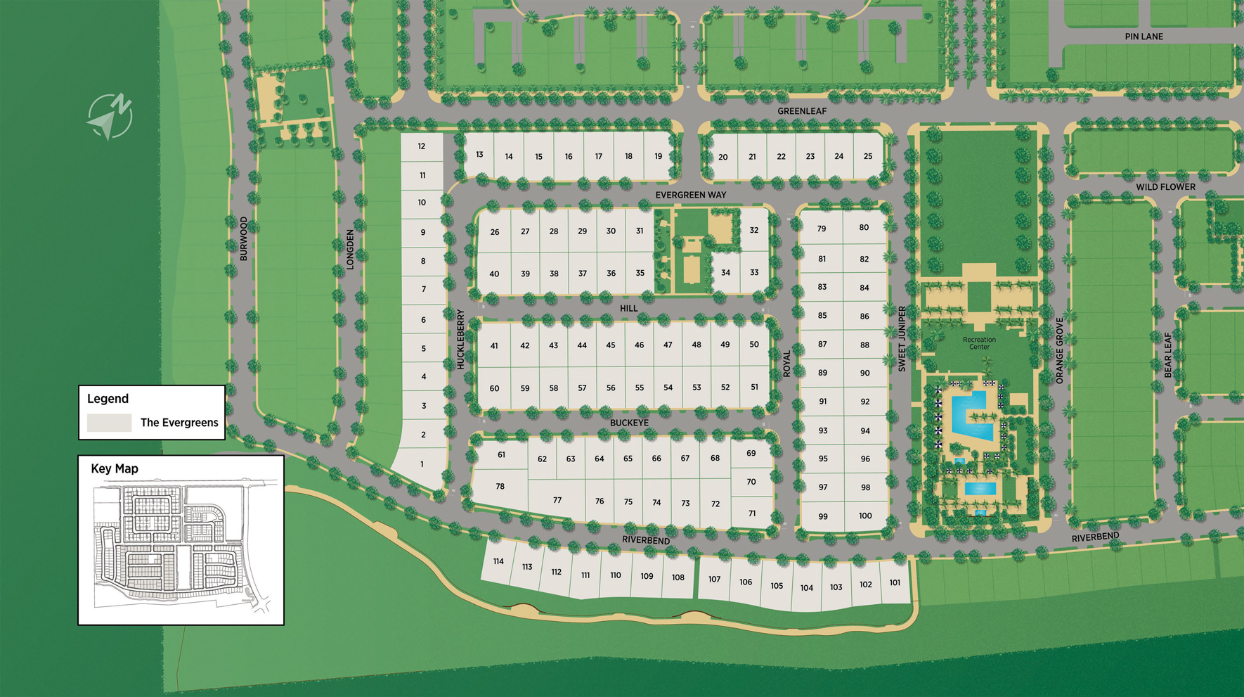 The Evergreens at The Meadows Site Plan