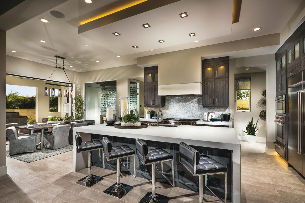 Well appointed kitchens with center islands