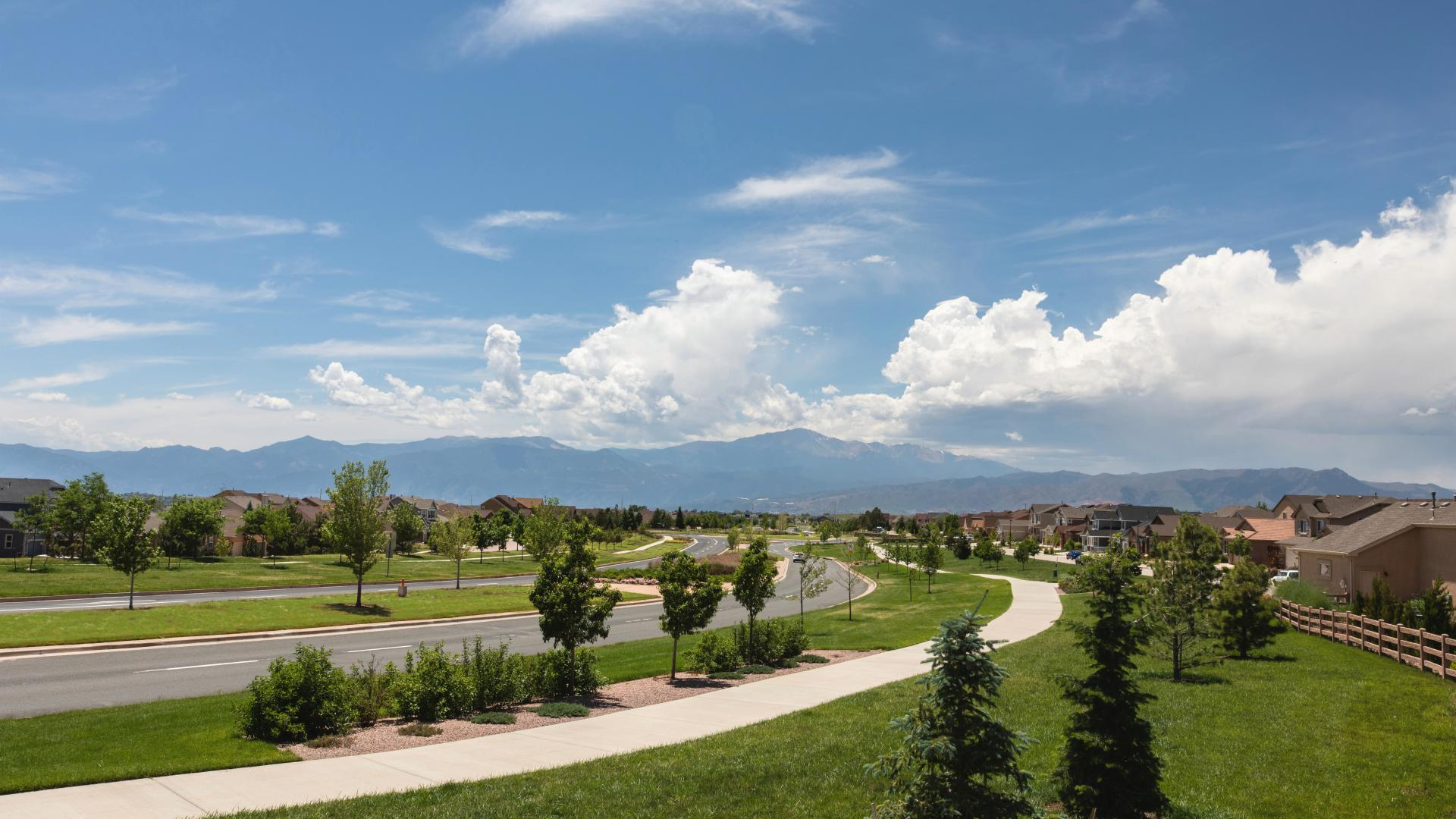 Breathtaking Rocky Mountain views can be seen throughout the community