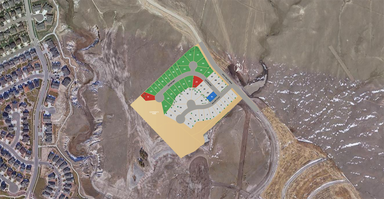 élan at Wolf Ranch Site Plan