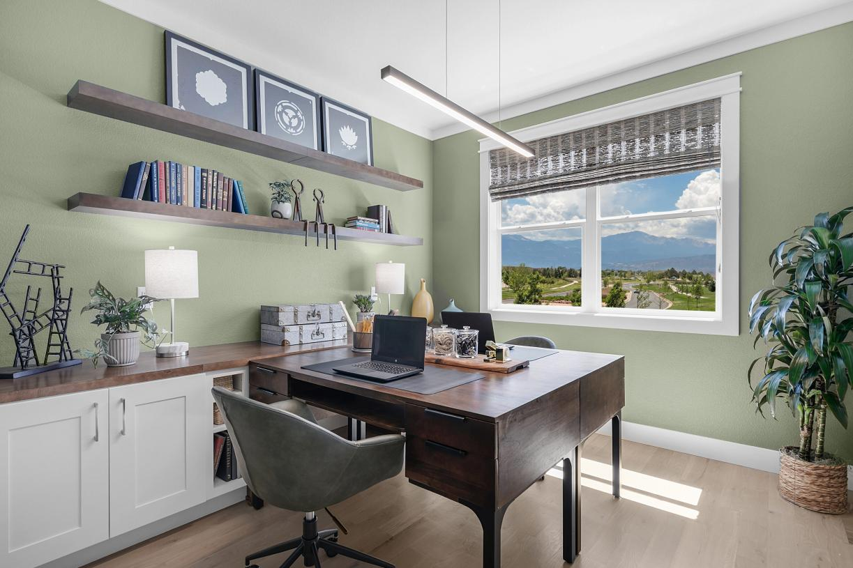 Flex room on the main level, perfect for a home office