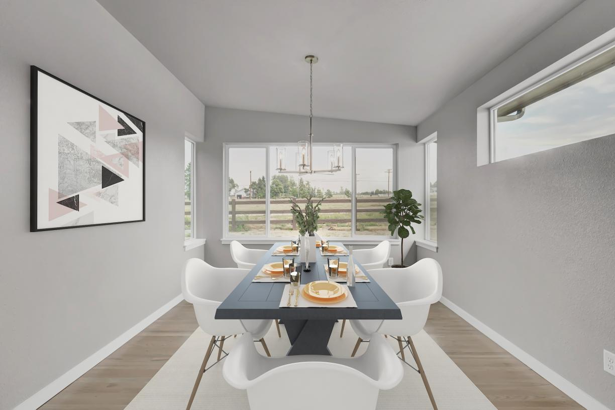 Casual dining area just off the kitchen with room for a large table