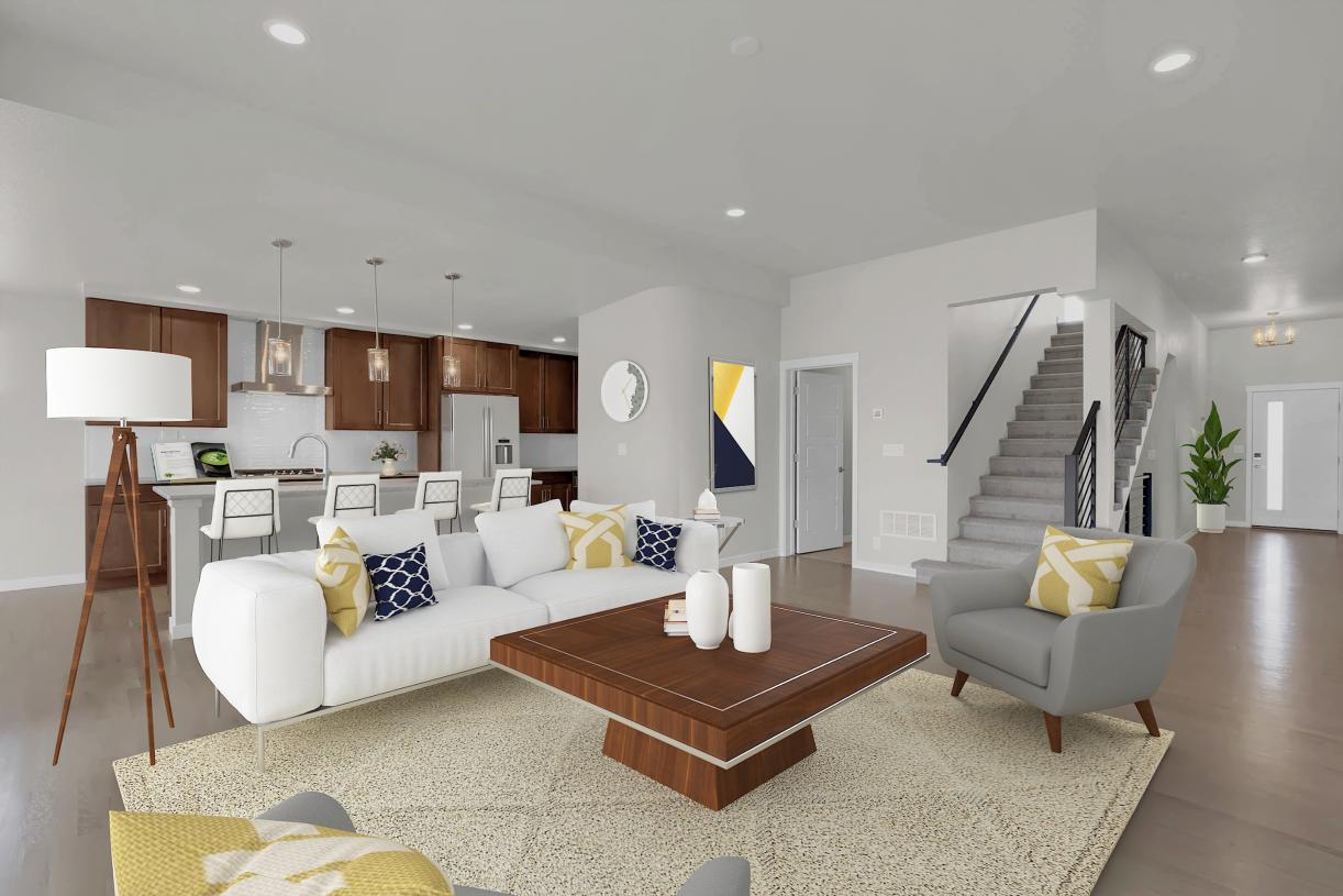 The open main level allows for easy entertaining and the ability to stay connected