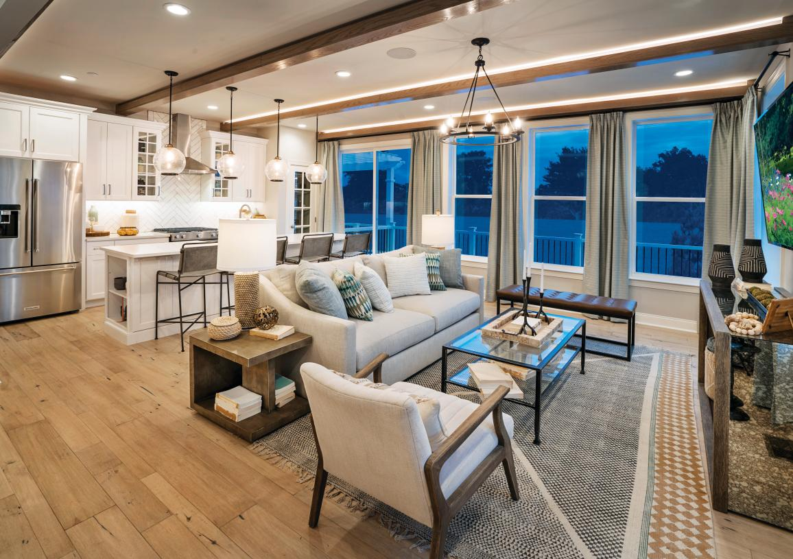 Luxury townhome community with new home designs and open-concept floor plans