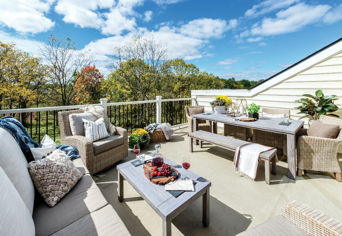 Rooftop terraces available on select home designs