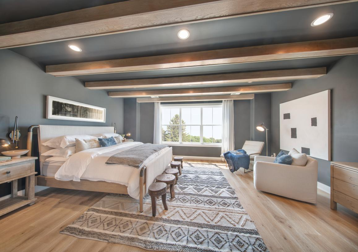 Primary bedroom suites feature walk-in closets and spa-like primary baths