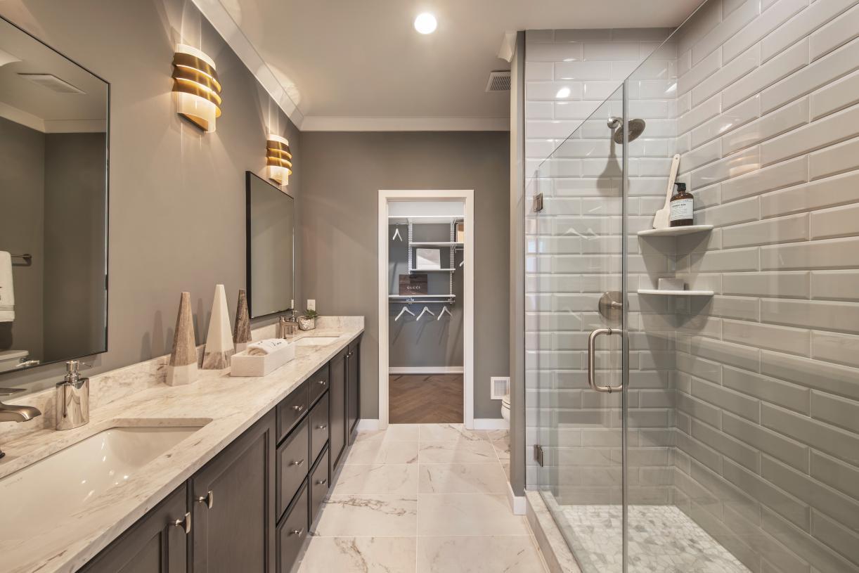 Representative Photo: Spa-like primary bath with dual-sink vanity