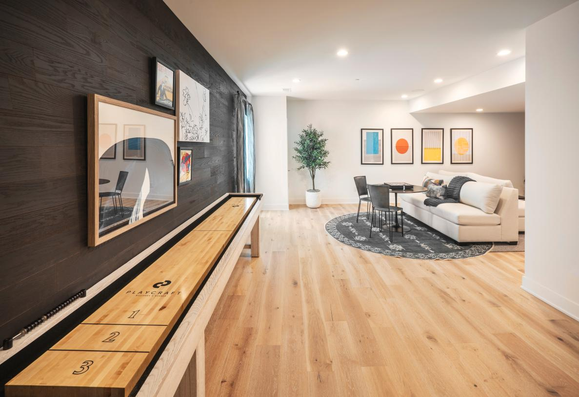 Optional finished basement provides another space to entertain or relax