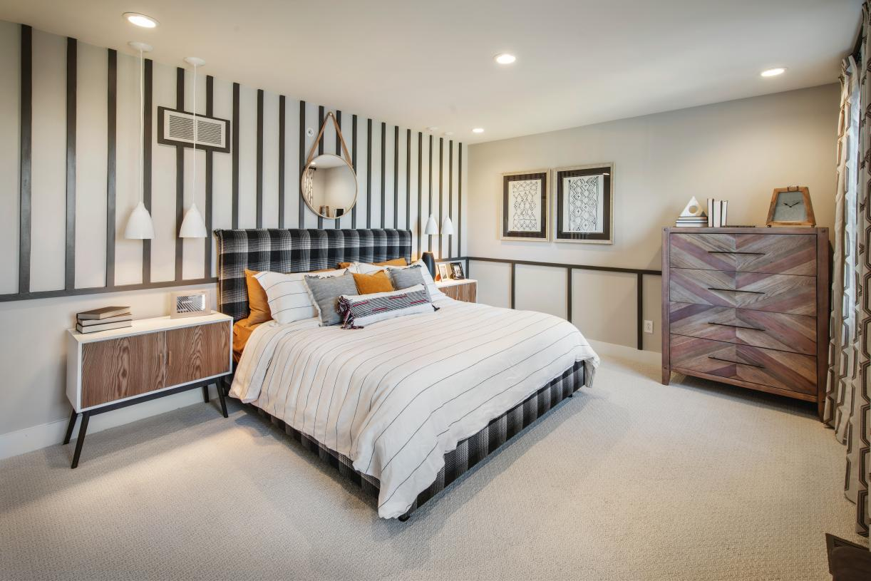 Secondary bedrooms feature ample closets