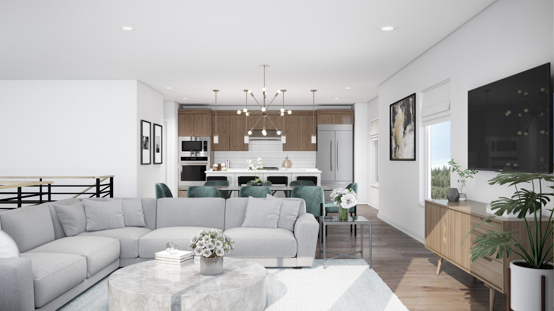 Open concept home designs with plenty of room for entertaining