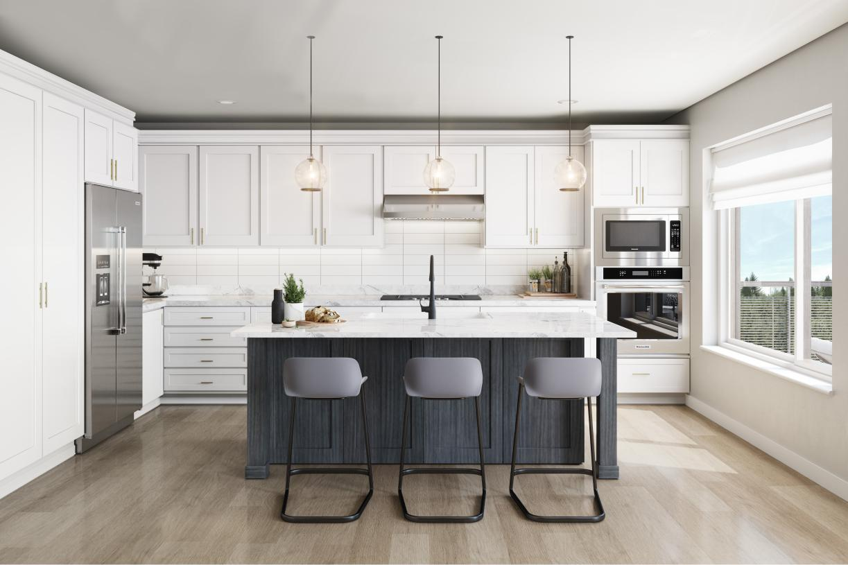 Gourmet kitchen with ample cabinet space