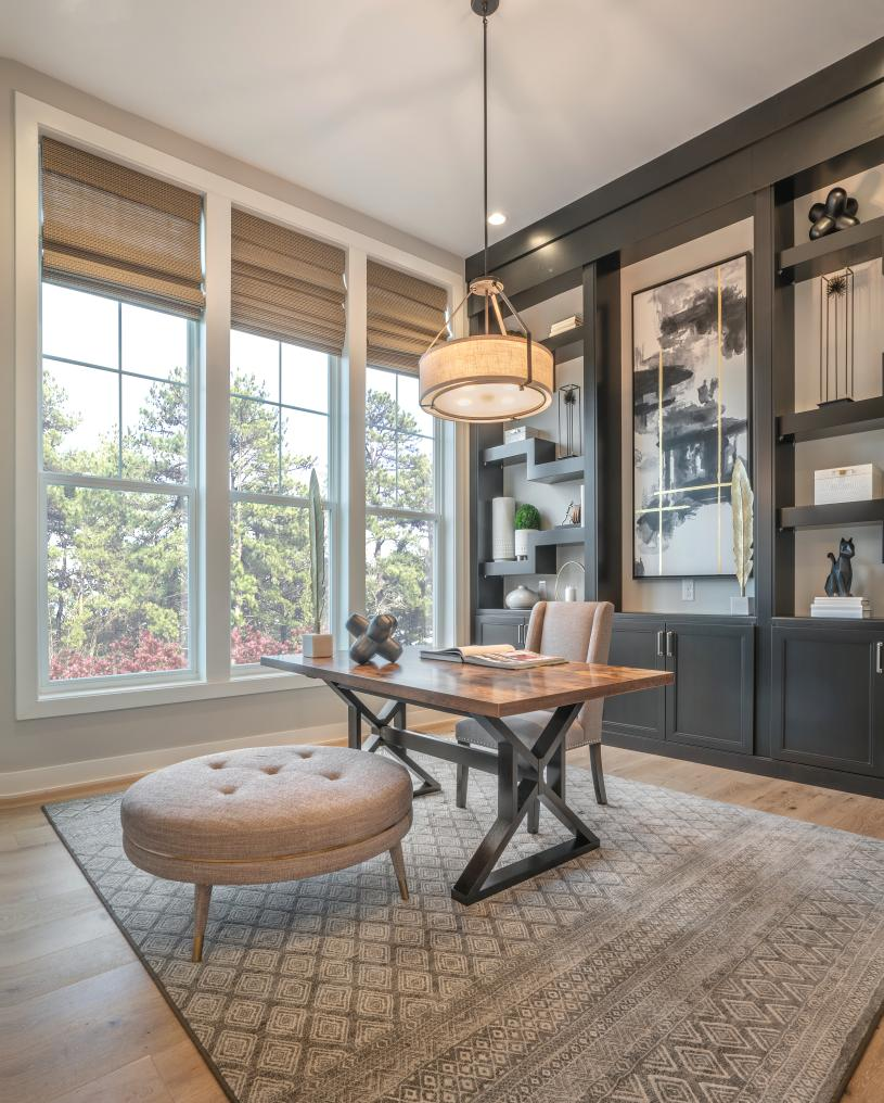 A flex space provides the perfect room to work from home