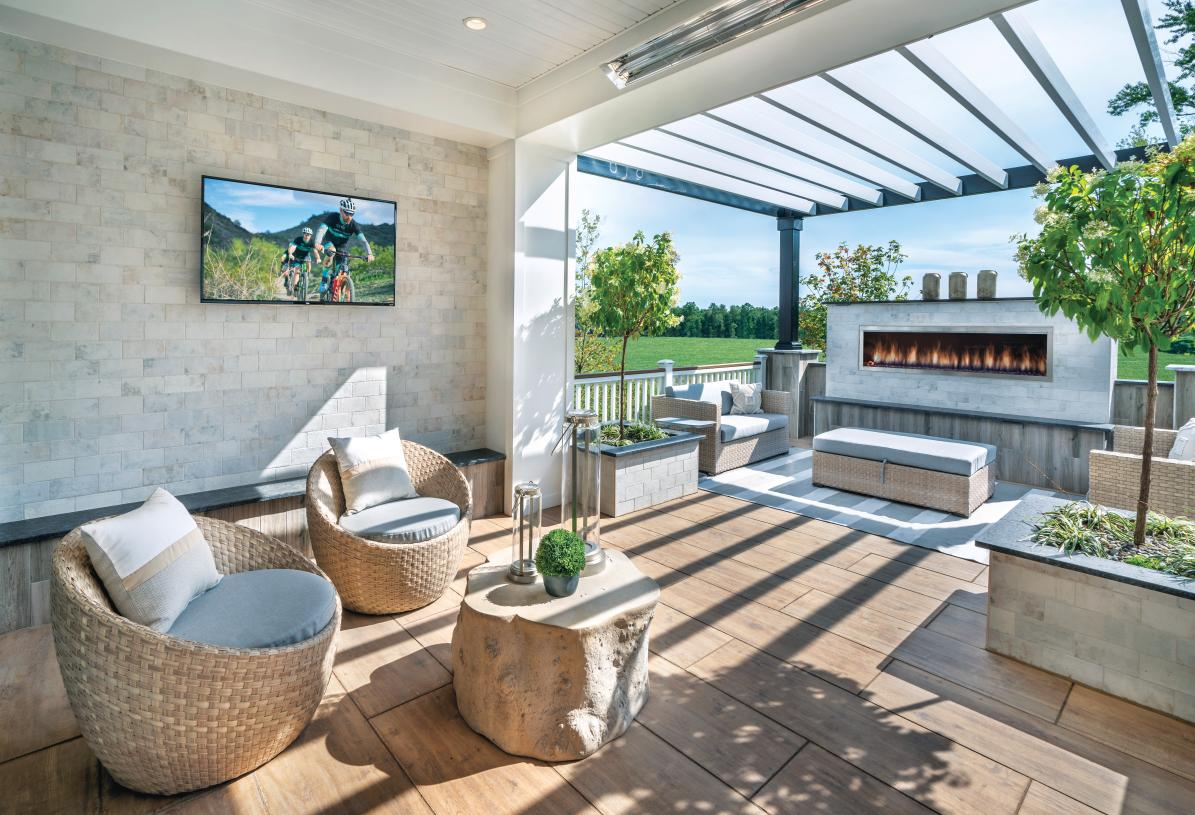 Backyard areas provide ample space for activities, grilling, and vacationing at home