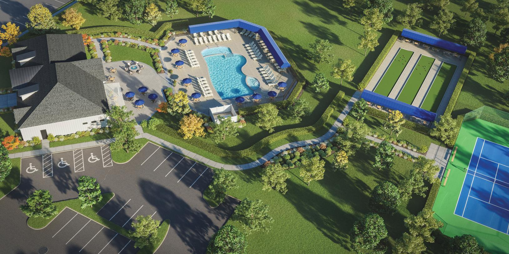 Relax poolside with community on-site amenities