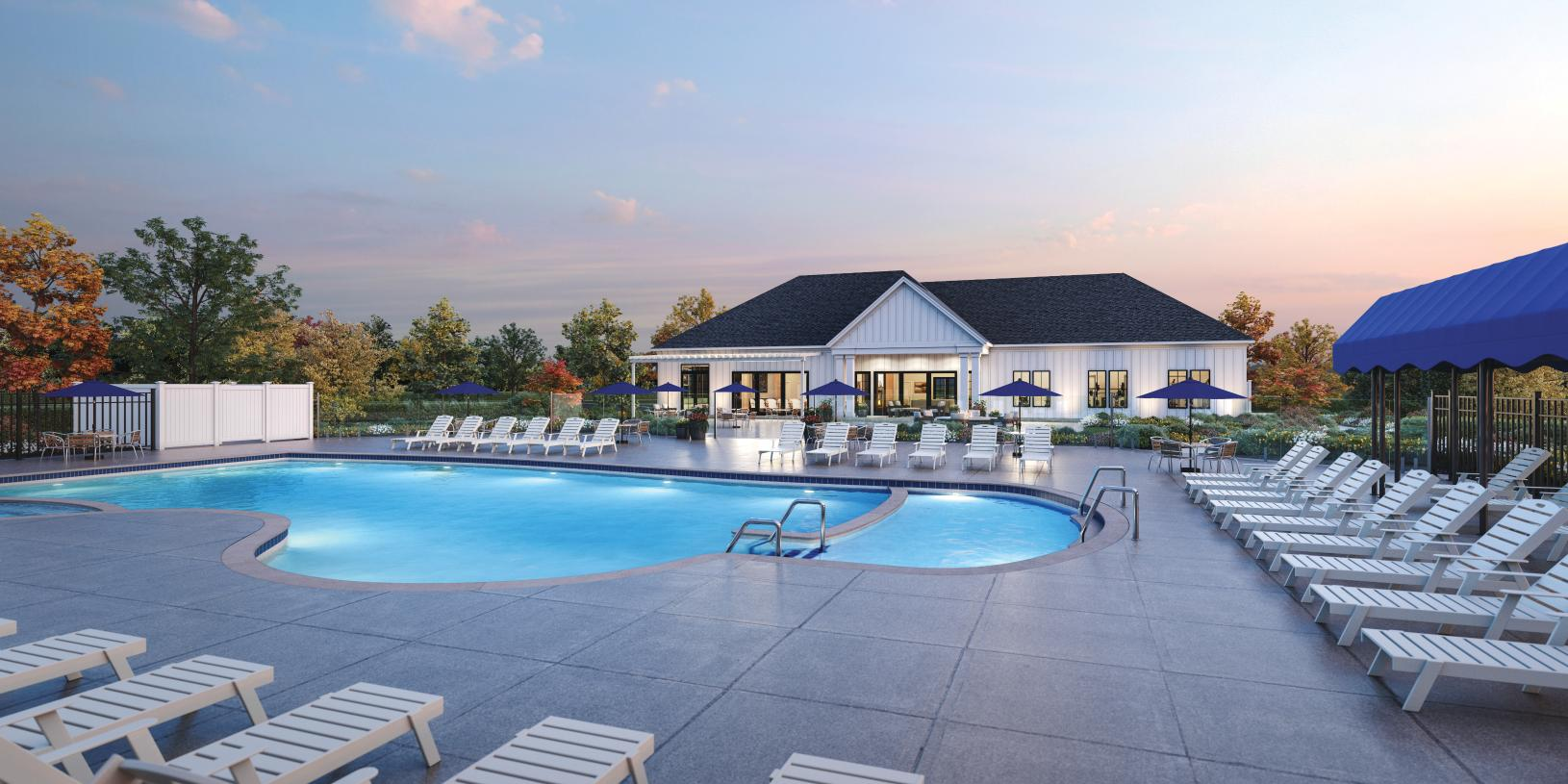 Future on-site community clubhouse and amenities