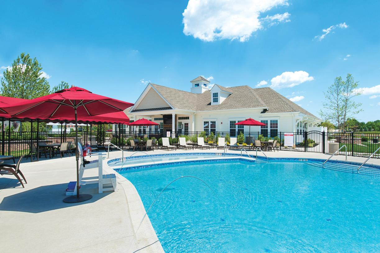 Future community clubhouse and outdoor pool for resort-style living in your neighborhood