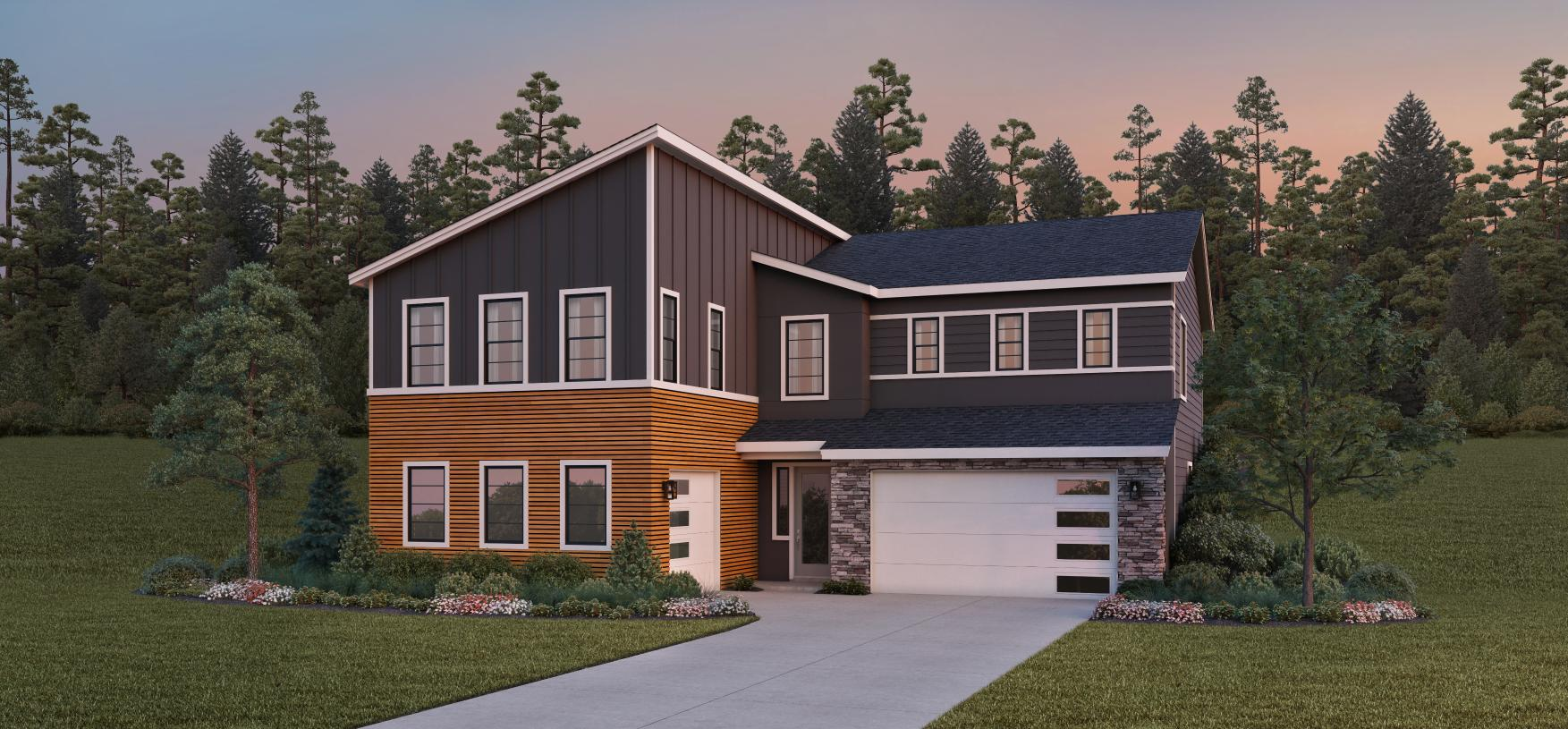 Striking contemporary details on the Baneberry home design