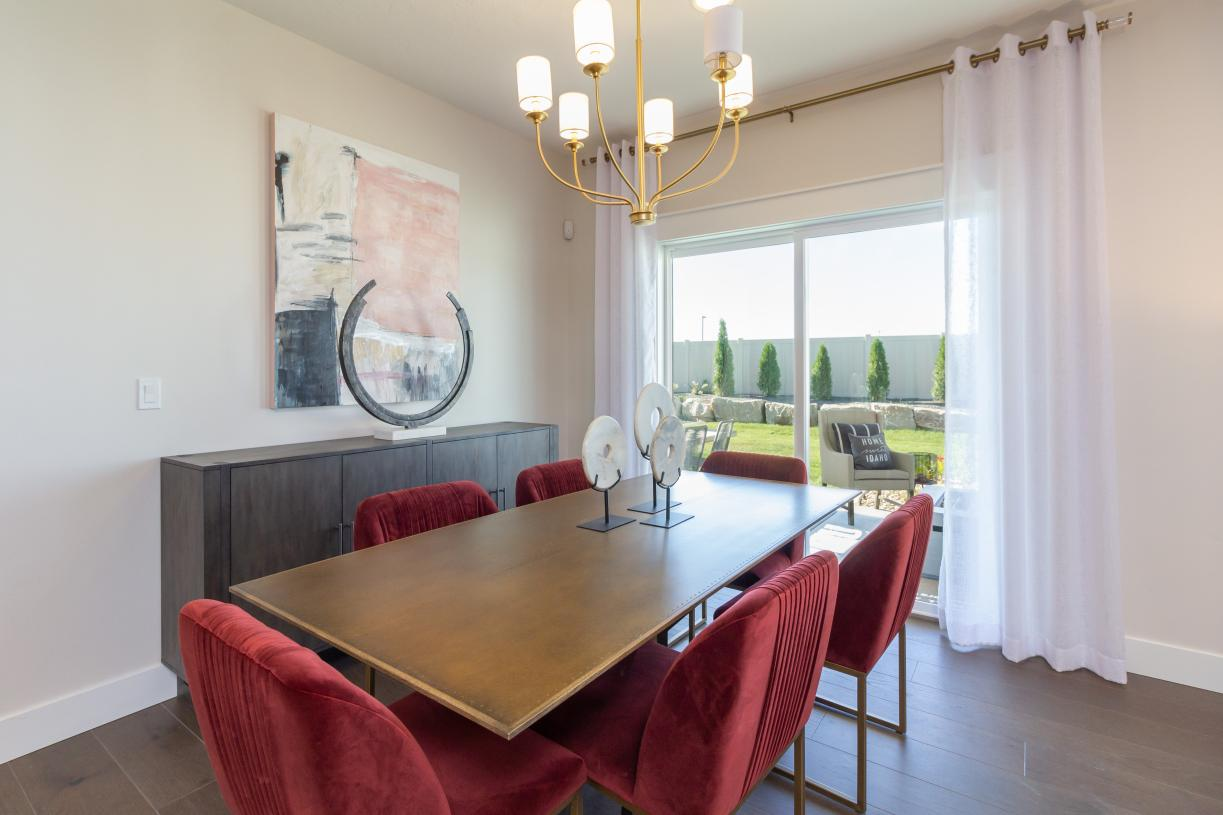 Casual dining spaces for entertaining