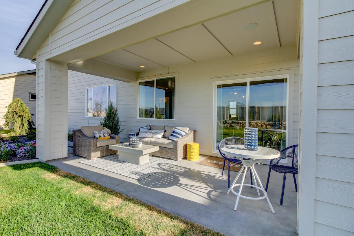 Large covered patios for outdoor living