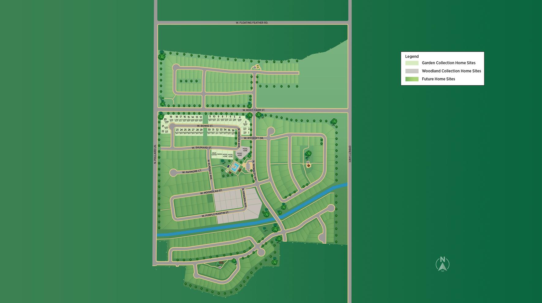 Heirloom Ridge - Garden Collection Site Plan
