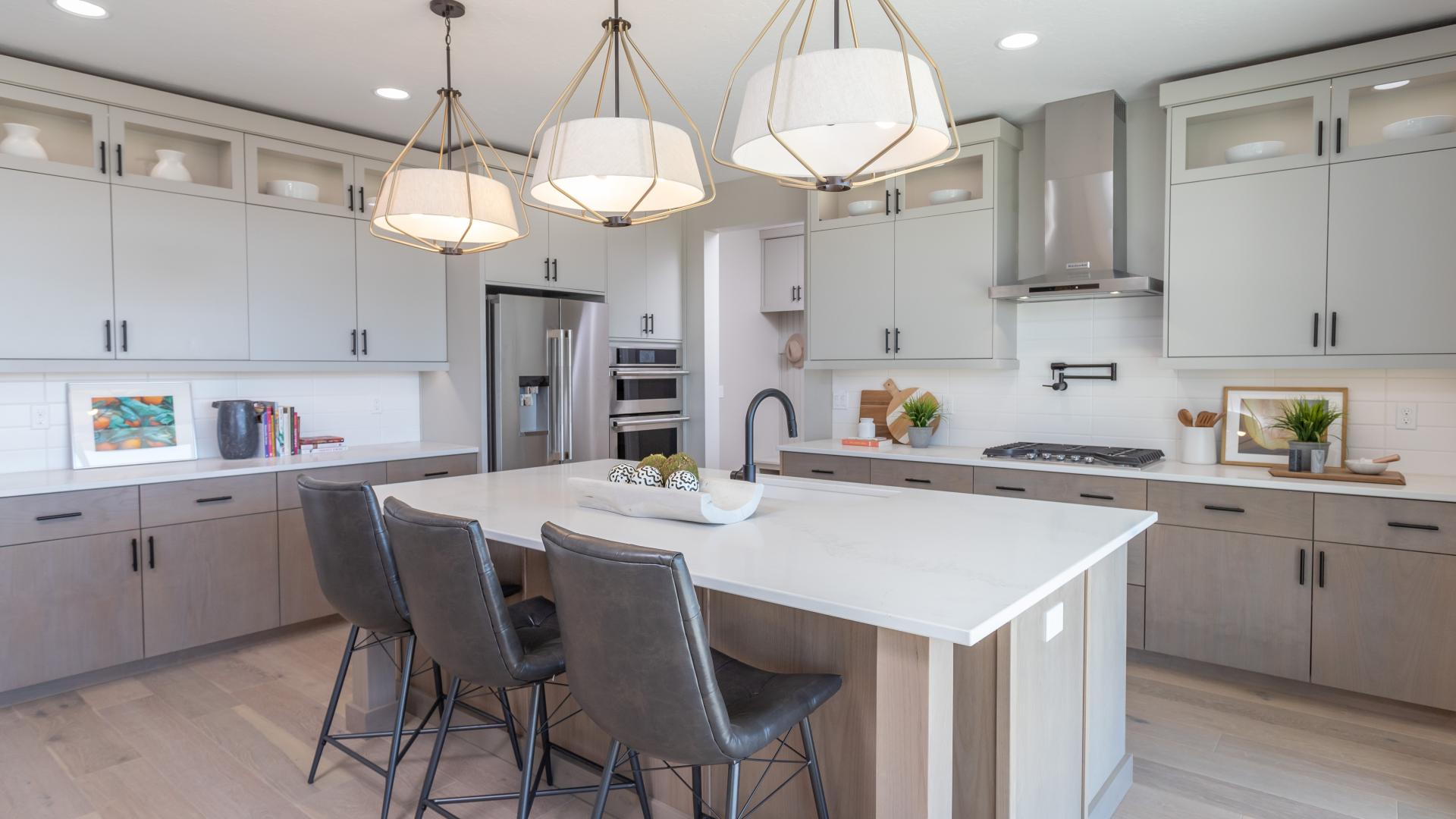 Gourmet kitchen with extra counterspace for entertaining