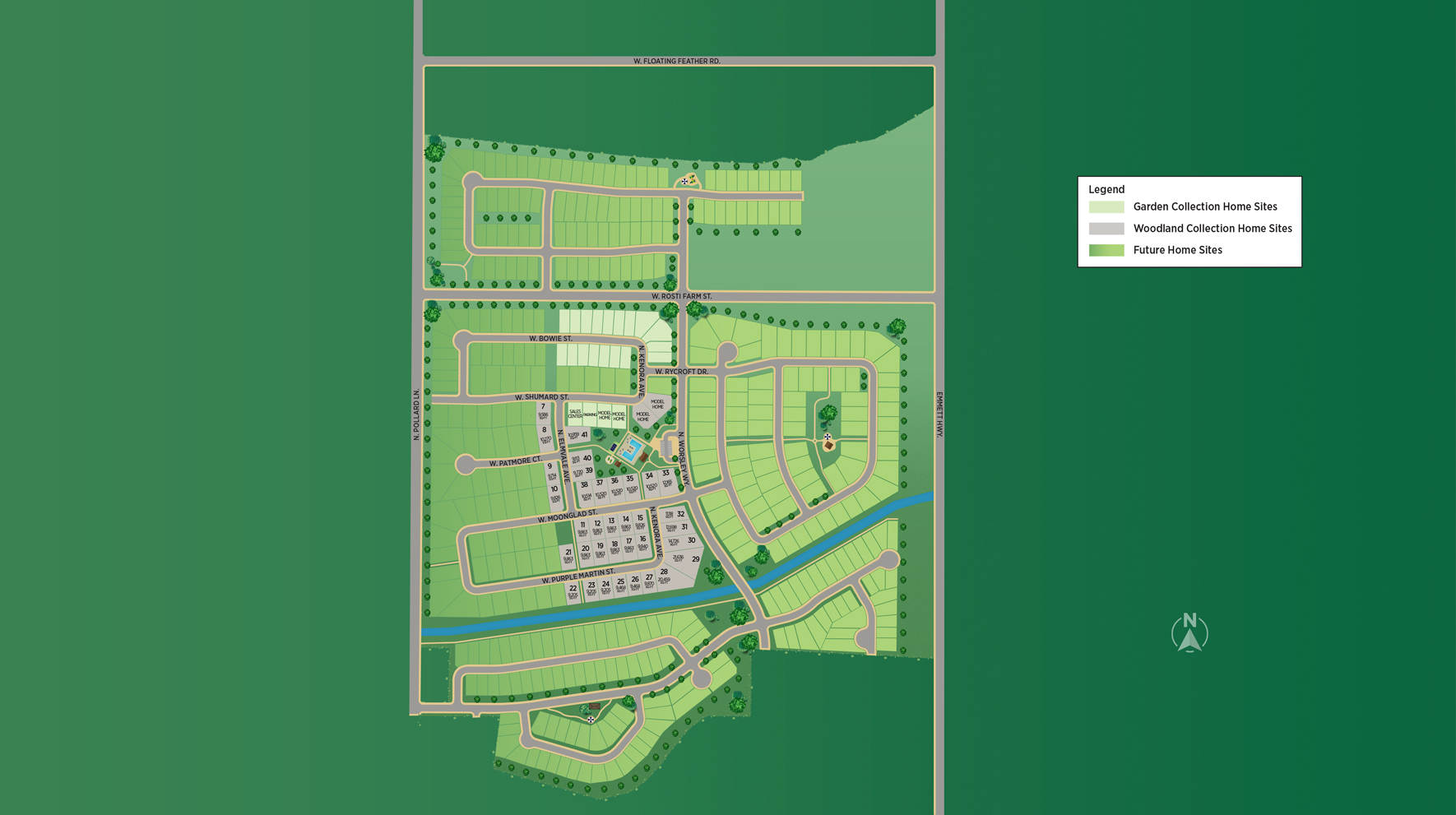 Heirloom Ridge - Woodland Collection Site Plan