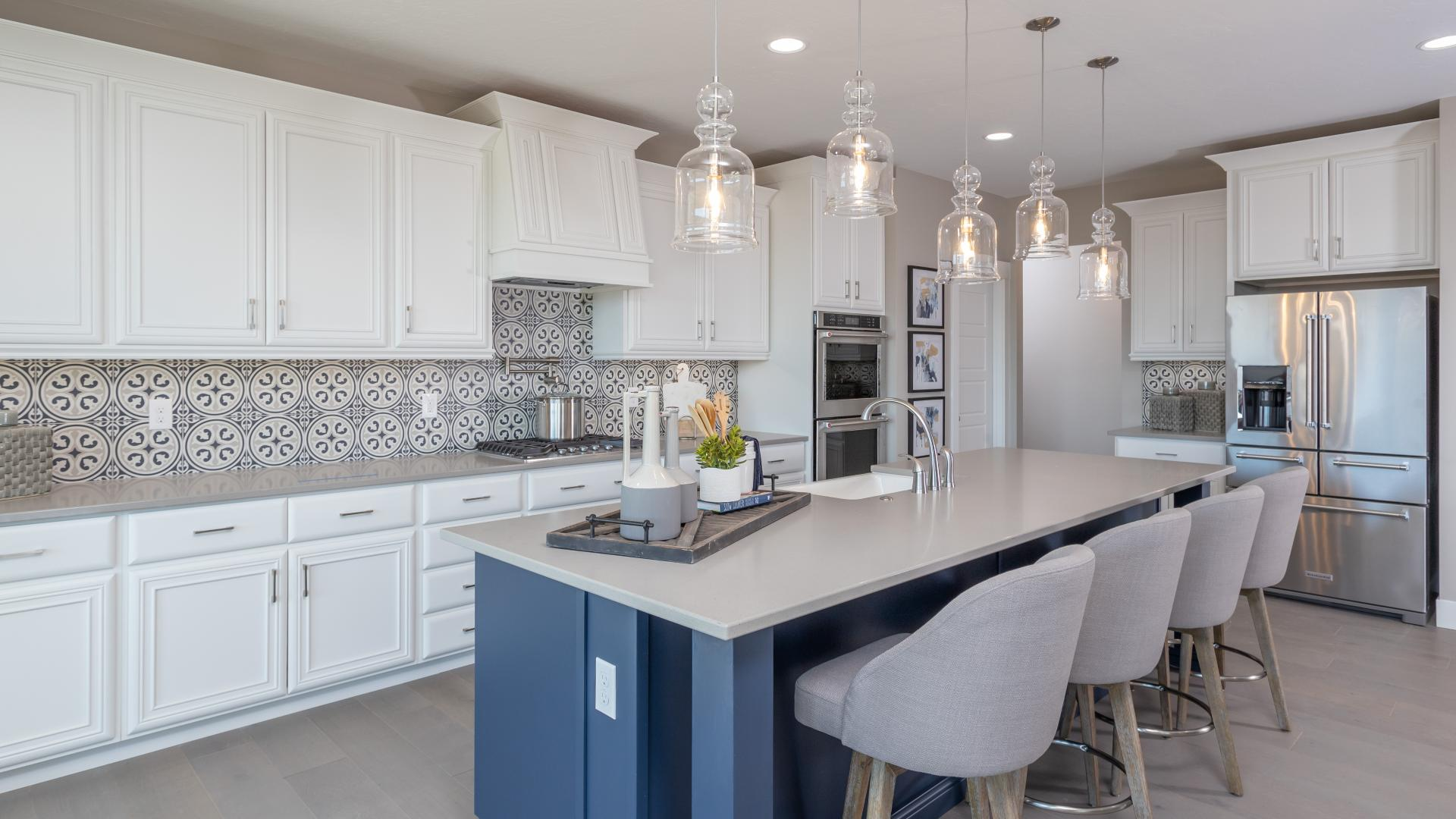 Gourmet kitchens with extra counterspace for entertaining