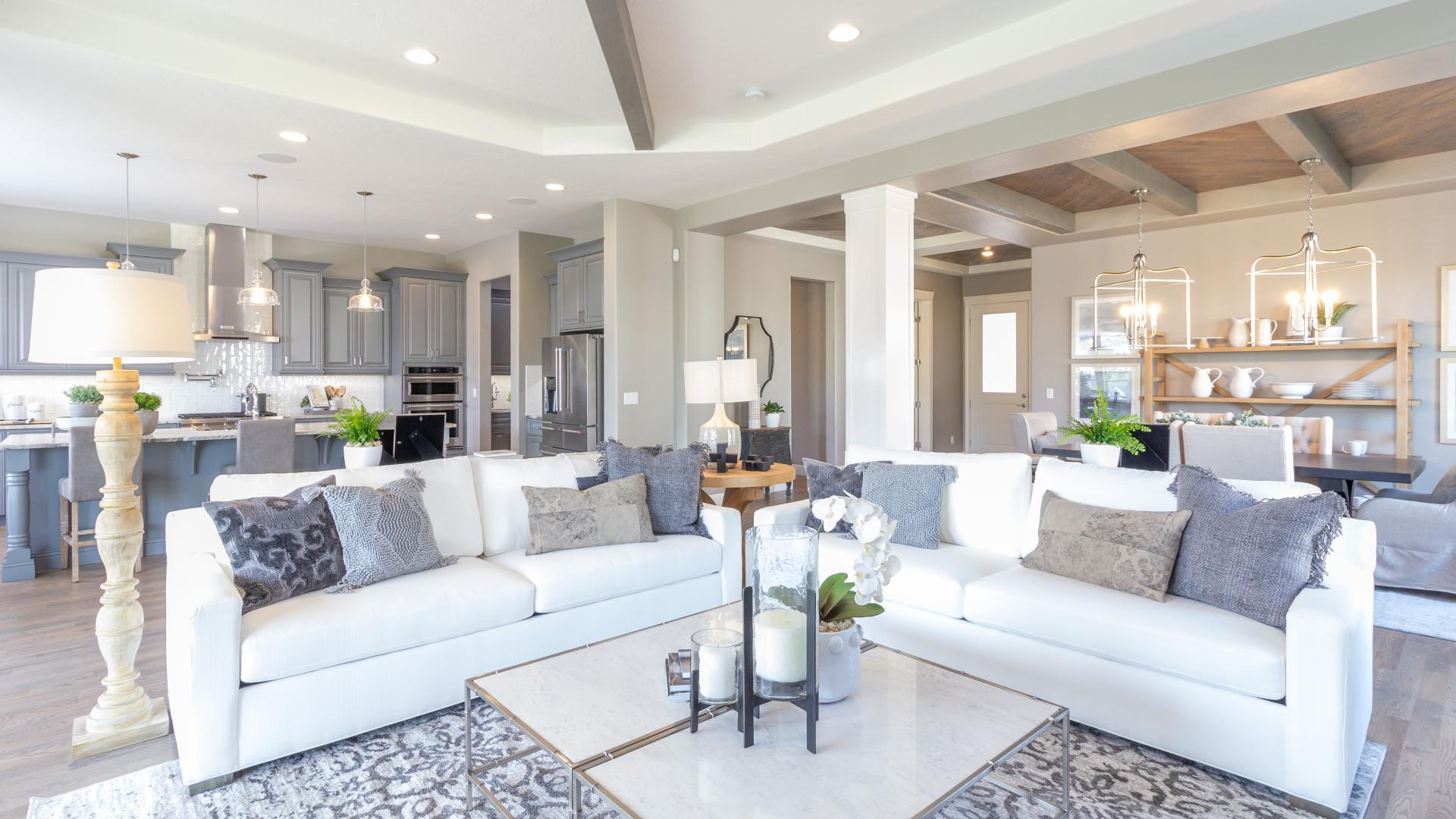 Open and inviting great rooms