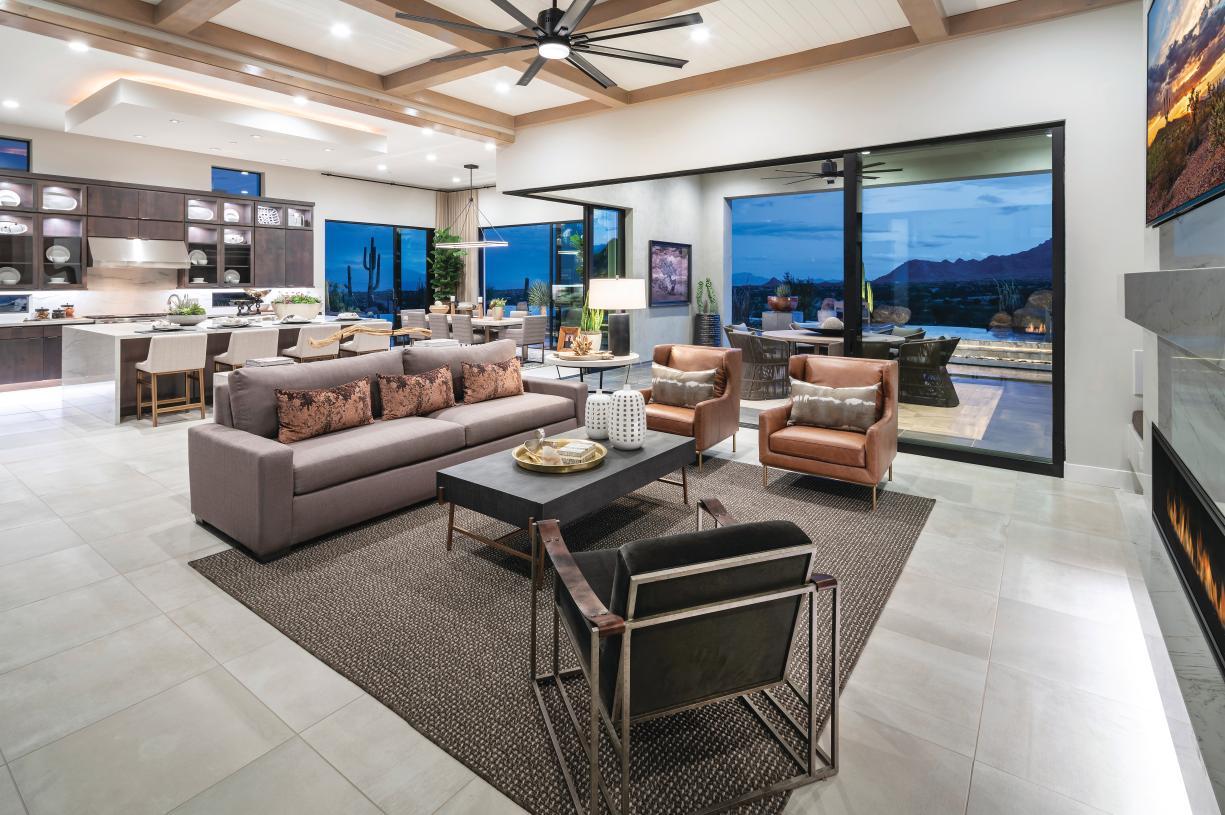 Open concept floor plans with seamless indoor-outdoor living