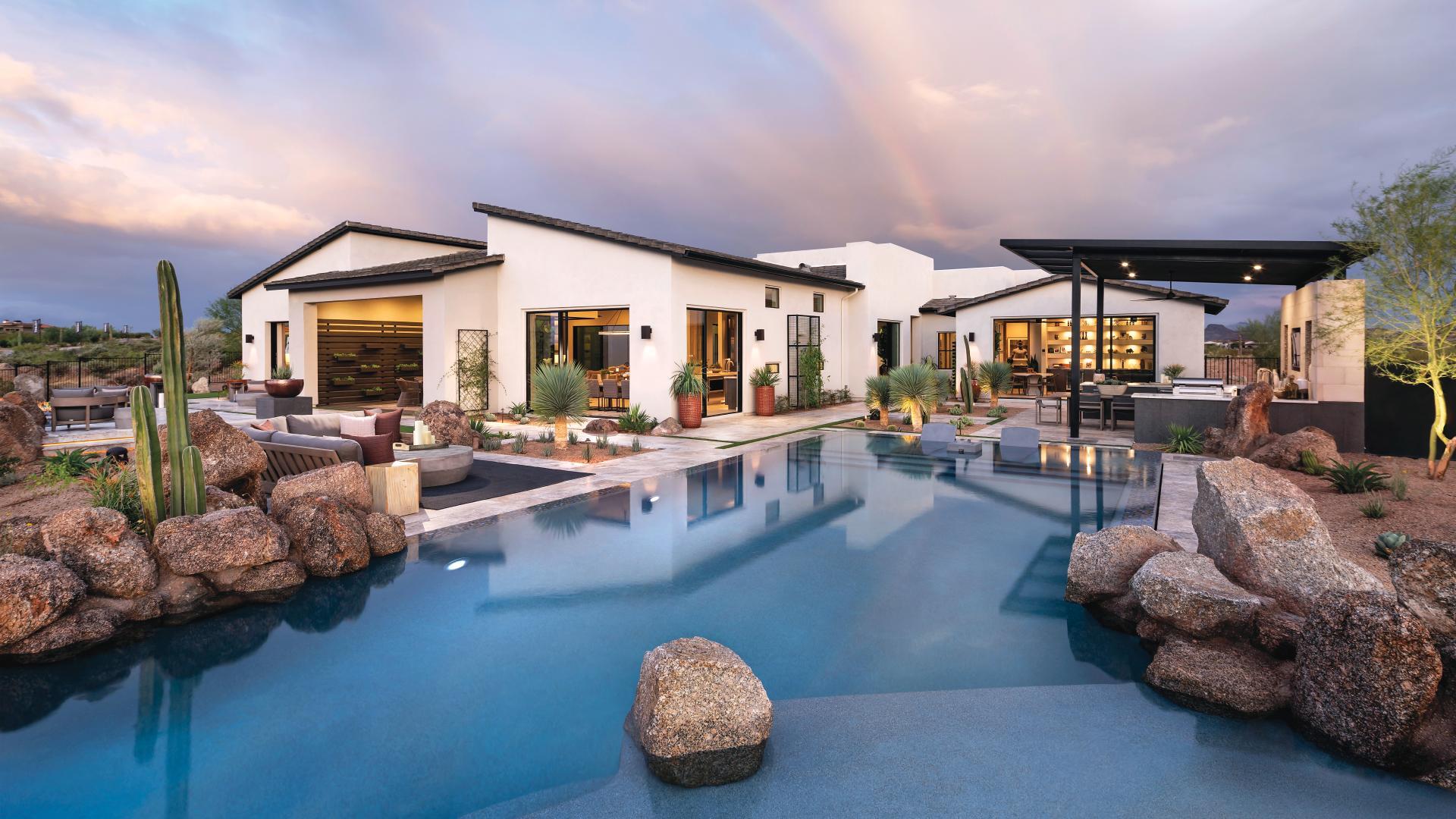 Luxury single-family homes nestled in the Sonoran Desert