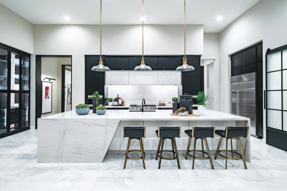 Gourmet kitchens with stainless steel Wolf appliances