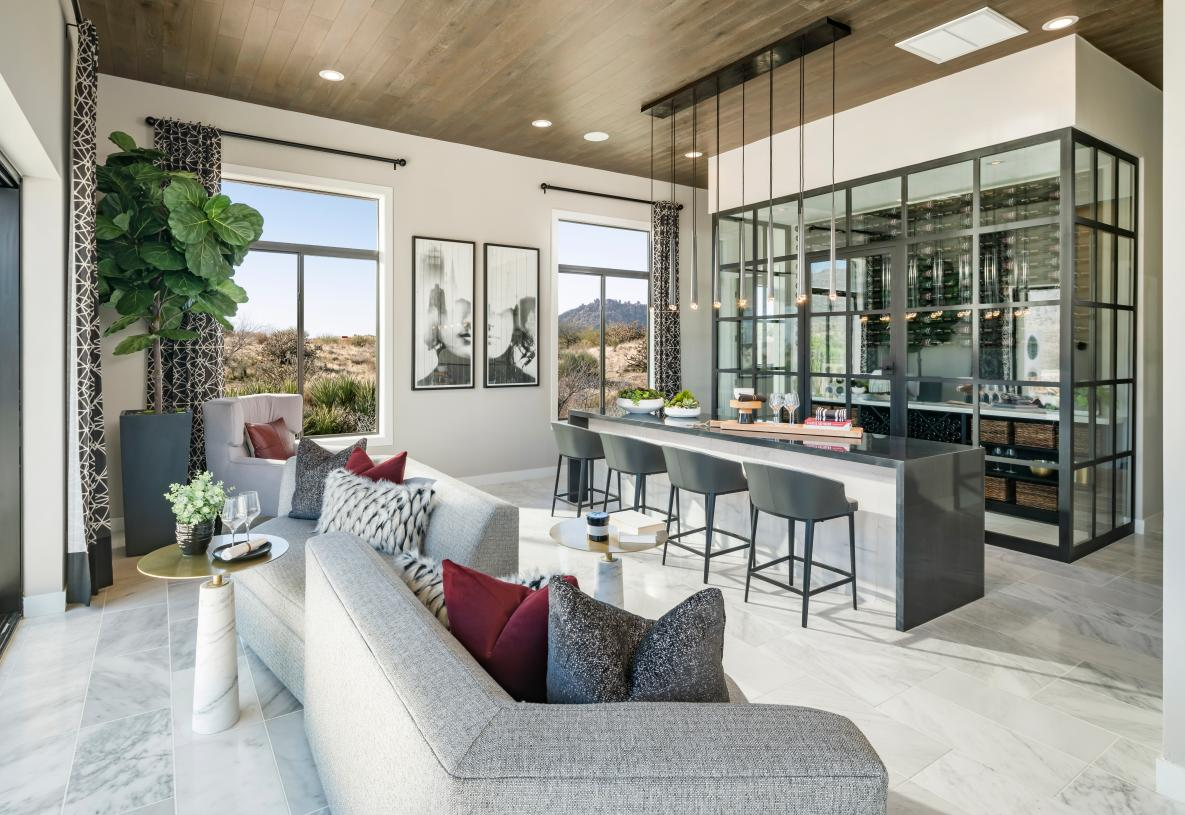Versatile home designs with multiple entertainment spaces both indoors and out