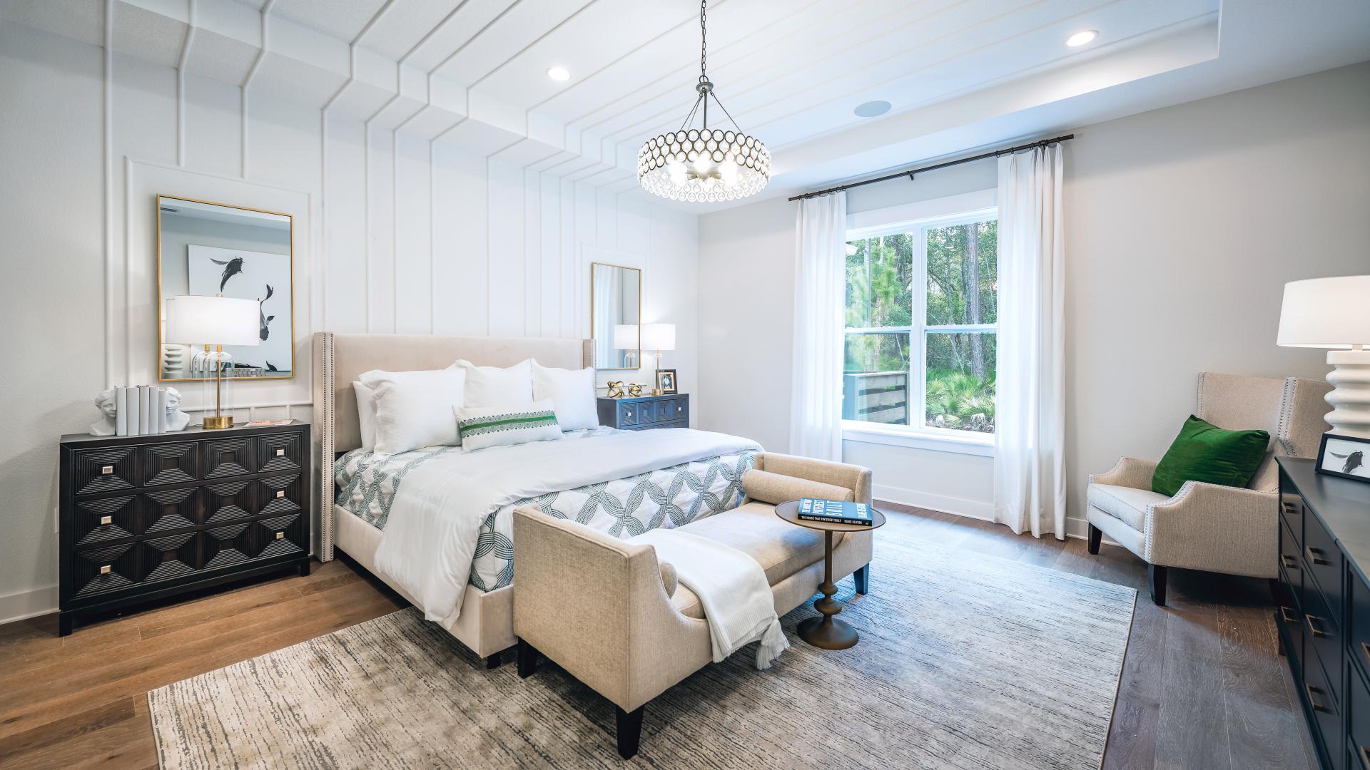 Luxurious primary bedroom suites