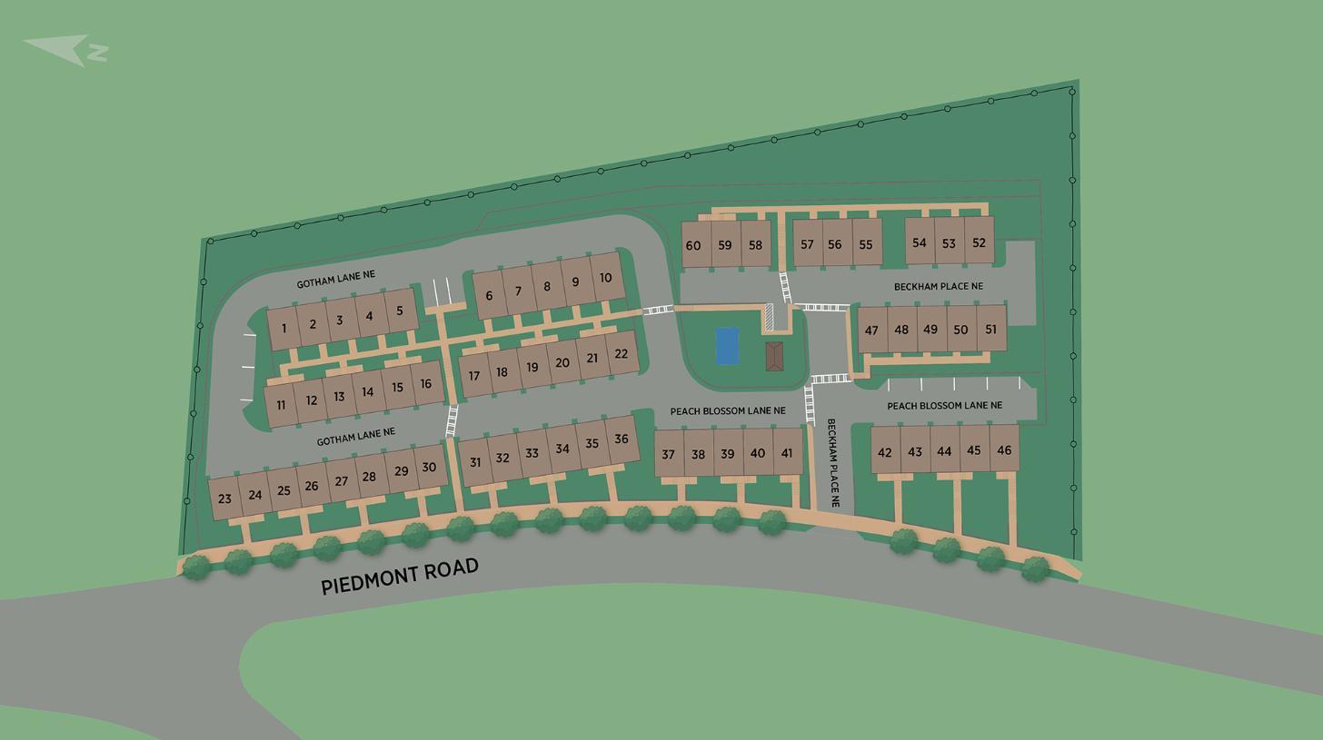 Beckham Place at Morningside Site Plan