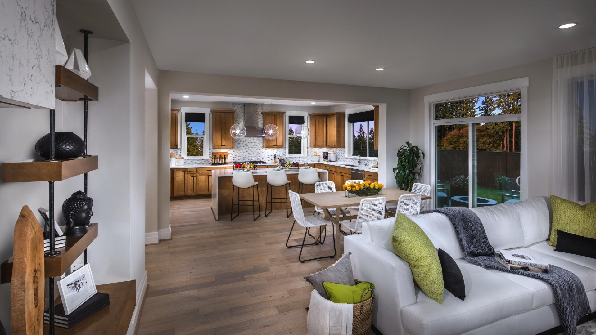 Ideal for entertaining, all home designs offer an open-concept great room