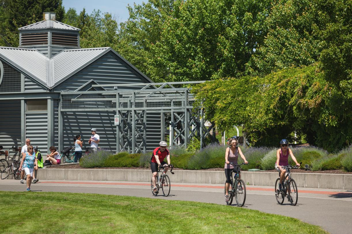 Perfect for biking, walking or jogging, the Burke Gilman trail connects to Seattle and the Sammamish River Trail
