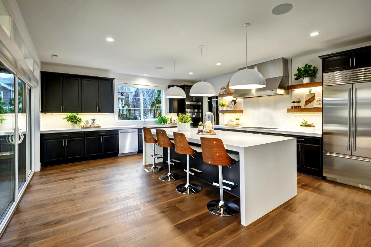 Gourmet kitchen with plenty of cabinet storage