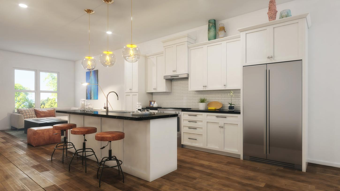 Kitchen features classic designs with modern finishes