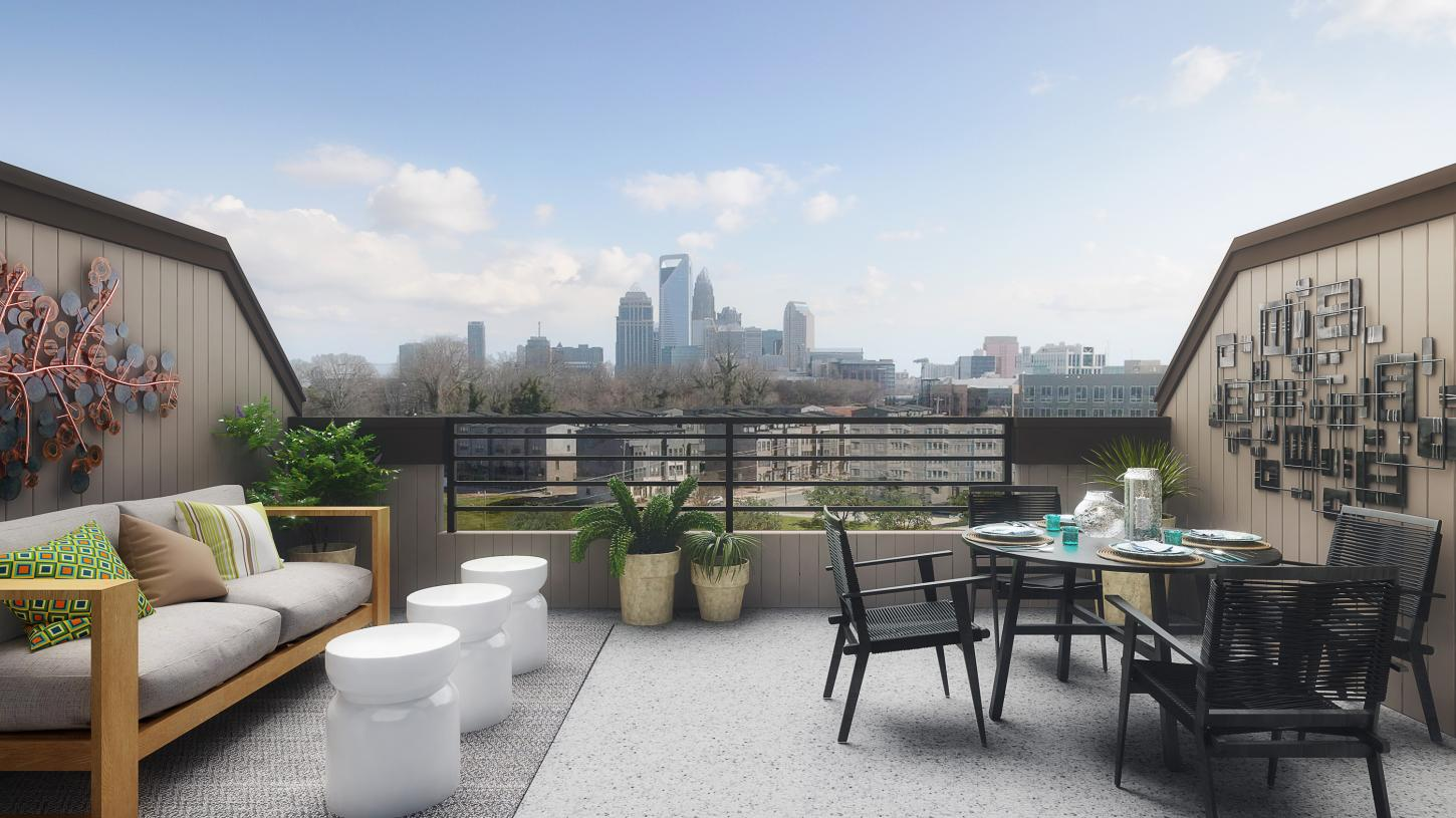 Enjoy rooftop terraces from the comfort of your home