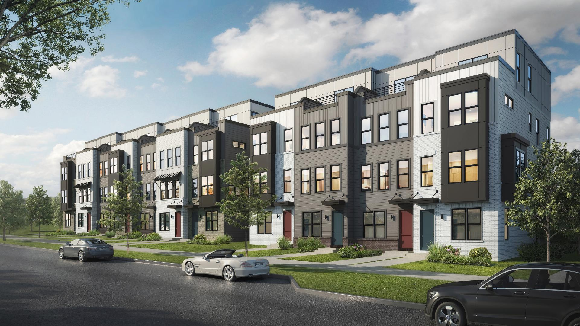 Live at Tremont Station with modern exteriors and steel construction framing